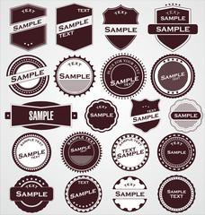 Labels With Retro Design