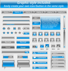Set of web elements-vector file-easily customizable