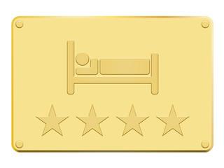 Plaque en or hôtel 4 étoiles