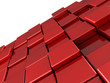 Abstract red shiny cubes background