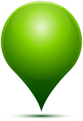 Green GPS Pin