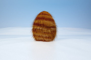 fur egg in the snow 02