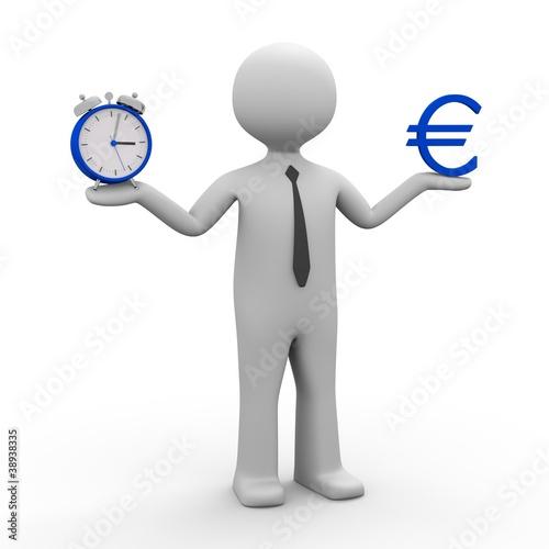 3d Männchen Zeit ist Geld  (Euro)