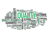 """QUALITY"" Tag Cloud (reliability customer satisfaction design)"