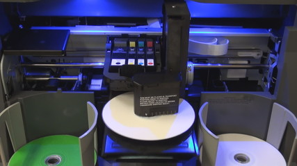printing cd machine in yellow color