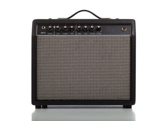 Guitar Amplifier or Speaker on white background