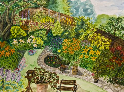 Plakat Garden, painting