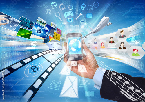 Internet & Multimedia sharing with smartphone