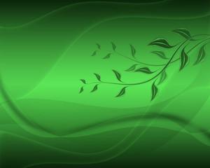 Fondo, ilustración, abstracto, hojas, verde