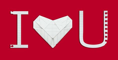 i love you alphabet paper