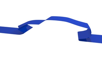 Blue ribbon with a silhouette of a sports car
