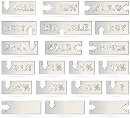 Isolated web elements - banner, button