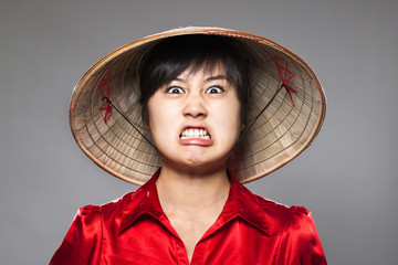 Angry Asian Person
