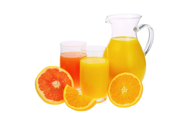 Orangensaft Grapefruitsaft - orange and grapefruit juice 01