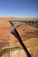 Beautiful elegant Glen Canyon bridge near Page, Arizona