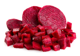 Fresh segments of a beet