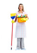 Housewife cleaner woman.