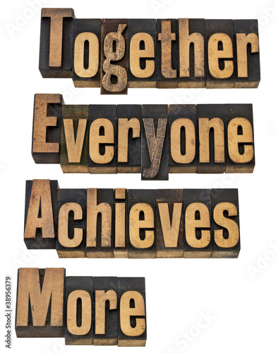 team concept in wood type