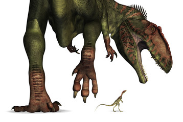 Dinosaur Size Comparison - Huge to Tiny