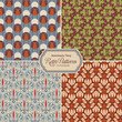repeating retro patterns (1) - set of four vintage designs