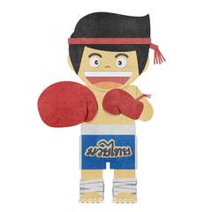 Paper boy ( muay thai kick Boxer ) recycled paper