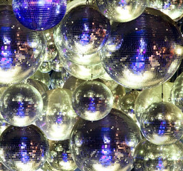 Disco ball at a nightclub
