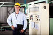 industiral engineer portrait in factory