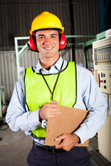 industrial worker with personal protective equipment