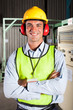 factory worker with personal protective equipment