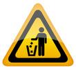 Do not litter triangle sign, vector illustration