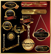 Premium quality golden framed labels