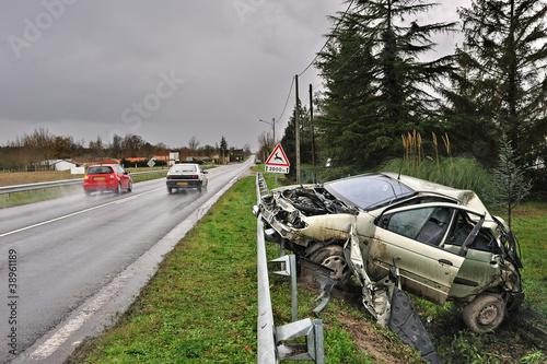 accident de la circulation sur route nationale