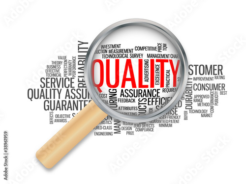 """QUALITY"" Tag Cloud (reliability customer product excellence)"