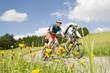 Beim Biken im Frühling