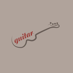Logo guitar, music store # Vector