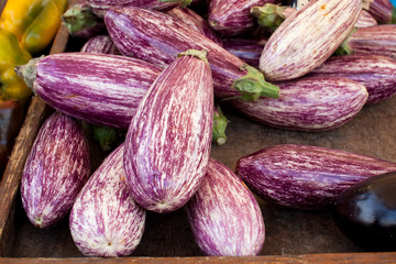 Eggplants at the merket