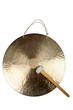 canvas print picture - Goldener Gong