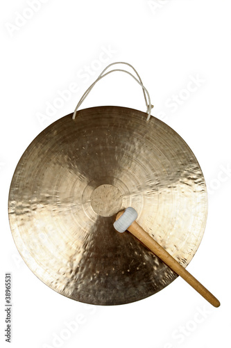 canvas print picture Goldener Gong