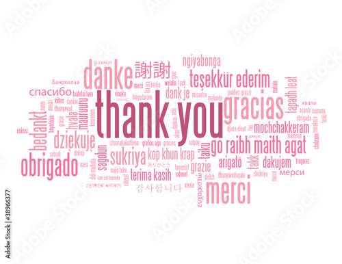 """THANK YOU"" Tag Cloud (card gratitude message greetings smile)"