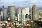 The business district Makati in Manila in the Philippines