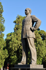 The statue of Dr. Sun Yat-sen.