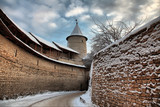 walls of the fortress of  Pskov poster