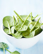 Baby spinach in a small bowl