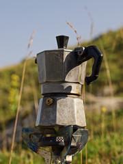 Espresso Kanne auf Gaskocher