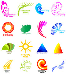 natural concept business icon collection