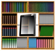 Concept of modern bookcase