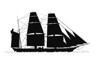 帆船ーシルエット