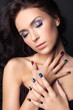 Fashion make-up and manicure