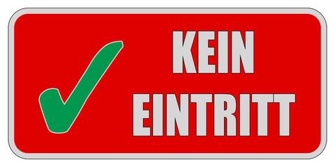 CB-Sticker rot eckig oc KEIN EINTRITT