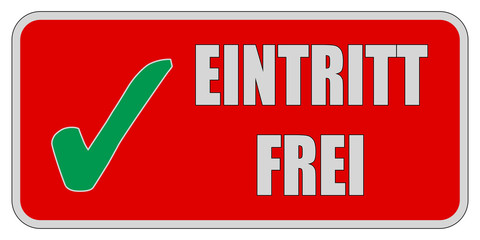 CB-Sticker rot eckig oc EINTRITT FREI